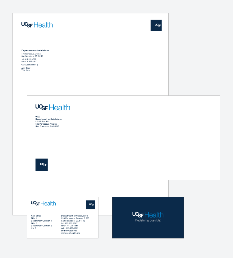 UCSF Health collateral examples