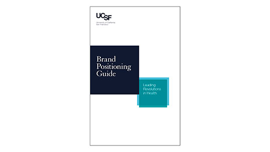 UCSF Brand Positioning Guide cover