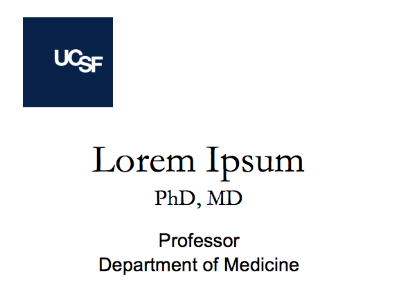 ucsf name badge