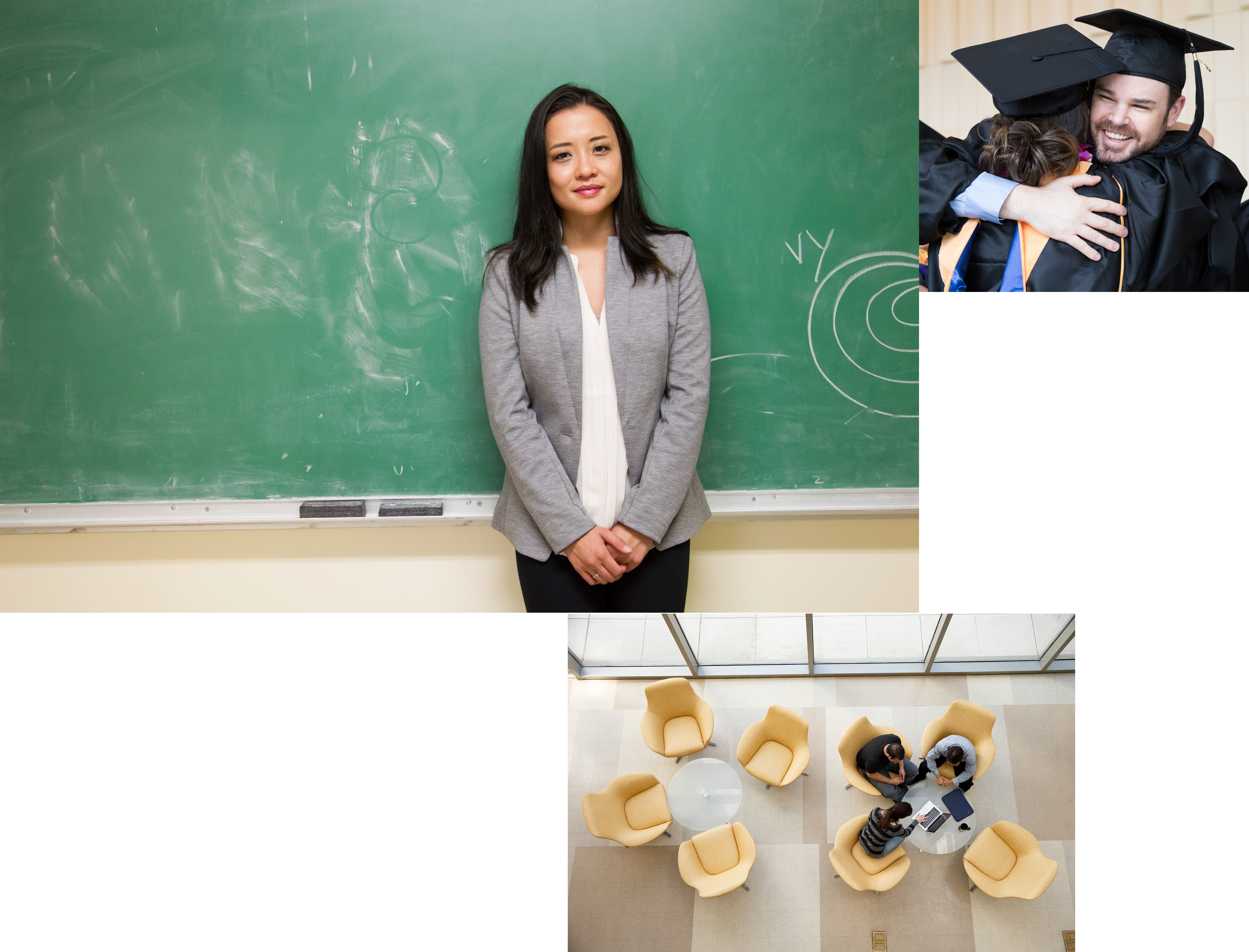 multiple images of students