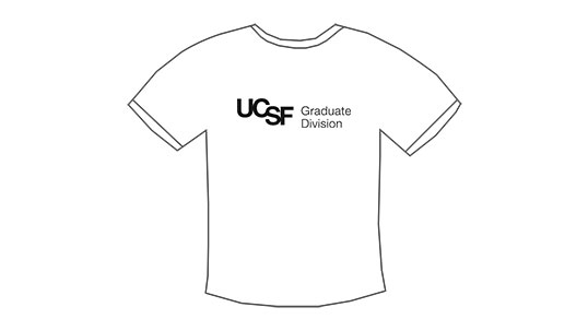 t-shirt mockup with UCSF logo